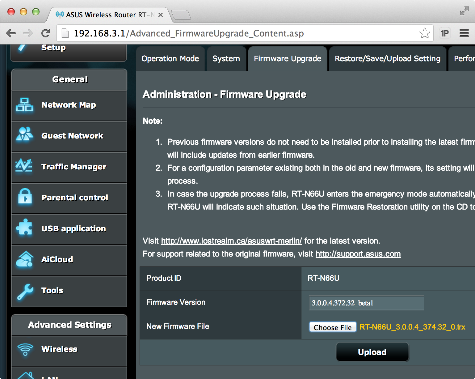 Updating the firmware on an asus router youtube.